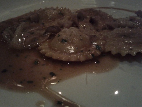 flour + water: rabbit raviolini w/ chestnuts and sage