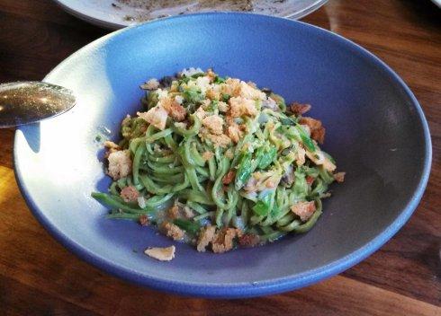 green garlic pasta